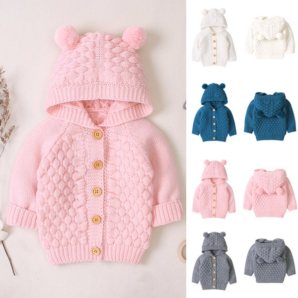 top popular 2019 New Baby rompers Overalls Clothes Winter Boy Girl Garment Knitting Thicken Warm Pure Cotton Outerwear coat jacket kids 2021