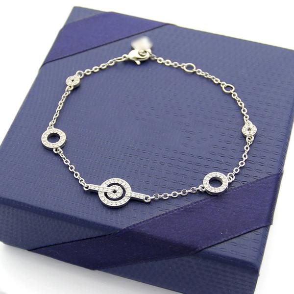 Hot 925 Sterling Silver Twist Links Bracelats Designer Bracelet Stainless Steel Jewelry womens Chain Bangle Luxury Jewelry Braccialetto