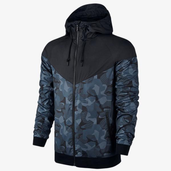 Chaquetas de marca para hombres Chaqueta cortavientos de camuflaje de diseñador Patchwork Letter Print Amarillo Negro Abrigos deportivos Running Prendas de abrigo CE98242
