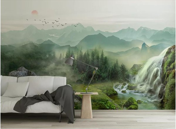 Custom any size photo landscape background wall paper mural beautiful scenery wallpapers