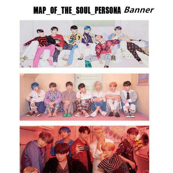 Kpop BTS Carte de The Soul: Concert de soutien pour le concert de Persona Bannière Suga V Raccroche Affiche