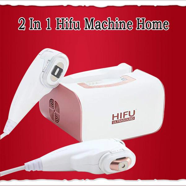 2019 Portable 2 en 1 machine de Hifu utilisation de levage à la maison de levage de visage yeux de retrait de sac de haute intensité machine faciale d'ultrason focalisé