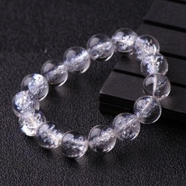 Natural White Crystal White Pop Crystal Bracelet Bead Hand String Jewelry New Products Sweet Romantic Free Shipping