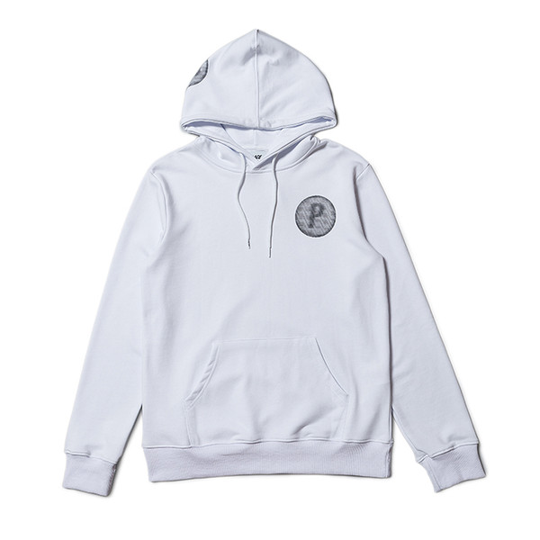 18ss palaces autumn and winter new letters water wave print loose men and women hoodie jacket sweater
