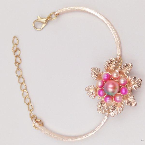 Rose gold 18mm druckknopf armband armreifen schmuck handketten diy snap schmuck schöne für frauen s021
