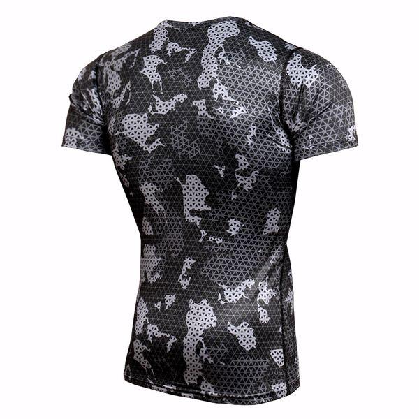 Best Selling Sport Running T-Shirt Rashgard Men Camouflage Gym Fitness Slim Training Shirts Dry Fit Sportswear Top Soccer Jerseys