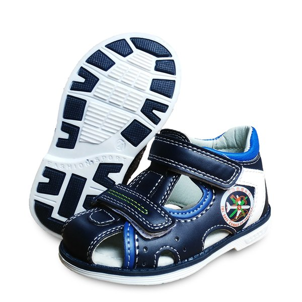 New 1pair Summer Boy Orthopedic Shoes Pu Leather Children Sandals, Kid Children's Shoes Y190525