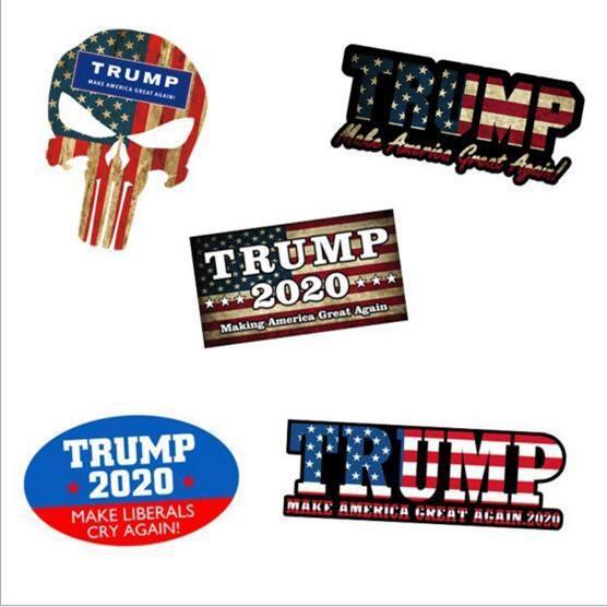 Donald Trump Car Styling autocollants pour voiture autocollant Decal fenêtre camion voiture drapeau bâton étanche 8-style YSY223 L