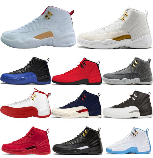 With Box 2019 Cheap 12s Fiba Game Royal Men Basketball Shoes 12 Michigan French Blue Cherry Dark Grey Sport Sneakers Mens Trainers Discount Shoes Shoe