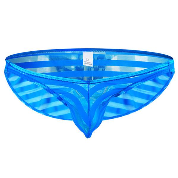 Men Sexy Briefs Underwear Transparent High quality Adult Breathable Mesh Elastic Low Waist Spandex Male Brief Underpants Panties