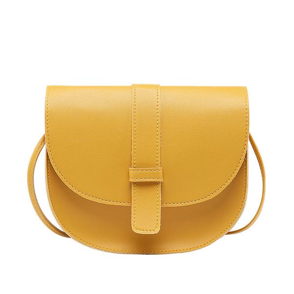 crossbody bags for women 2019 mini sling PU leather Korean single small shoulder phone Saddle