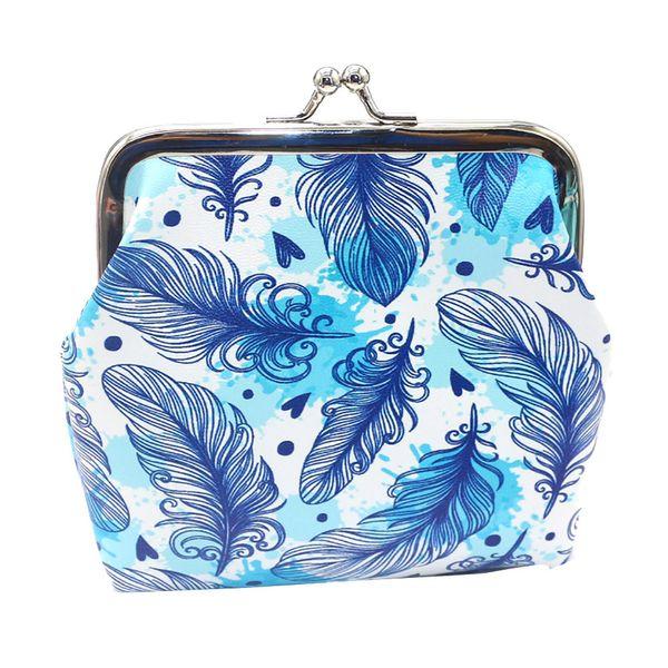 2019 fashion small wallet retro pattern ladies coin purse cosmetic bag key bag buckle mini handbag pocket Billera