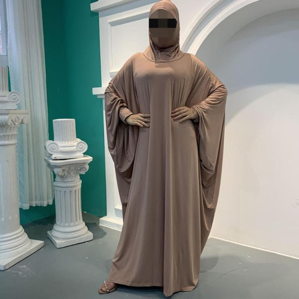 top popular Muslim Prayer Garment Abaya Women Hijab Dress Burka Niqab Islamic Clothing Dubai Turkey Formal Namaz Long Khimar Jurken Abayas 2021