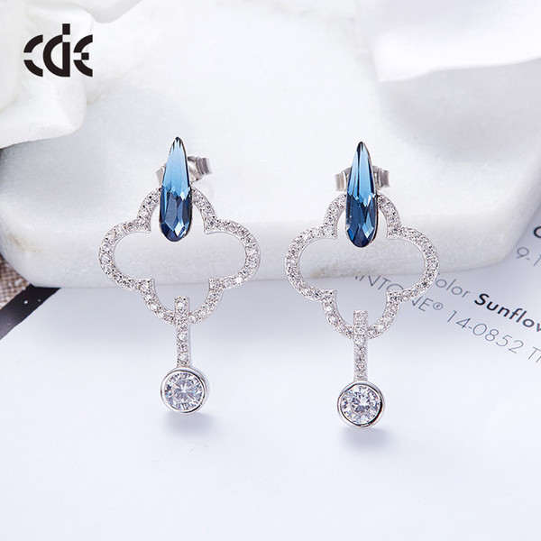 Wedding Party silver S925 beaded pearl gift woman lady diamond jewelry Earrings for bride acting initiation graduation CDE-663