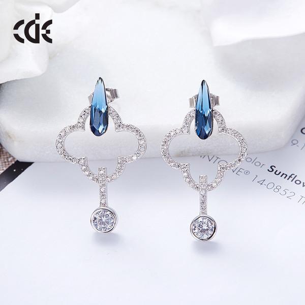 Hochzeitsfeier Silber S925 Perlen Perle Geschenk Frau Dame Diamant Schmuck Ohrringe für Braut handeln Initiierung Abschluss CDE-663