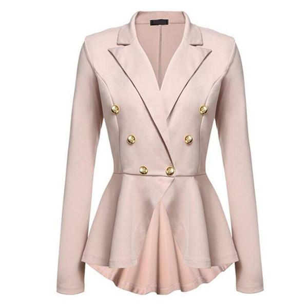 Von Mode Dame Taste Größe Frauen Jacken Slim Blazer Weibliche Feste Weiß Großhandel Fit Jacke Elegante Plus Brotherflagship Damen Büro P80wkOn