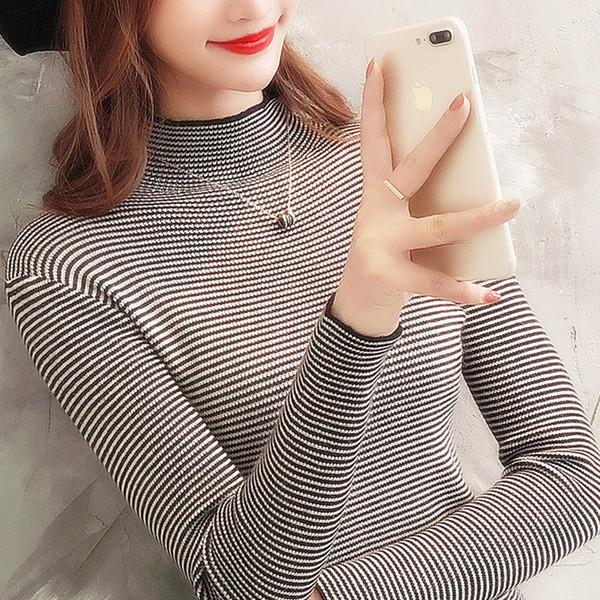 Frauen Pullover Winter Pullover Gestreiften Pullover Mädchen Gestrickte Pullover Femme Herbst Verdicken Warme Pullover Neue
