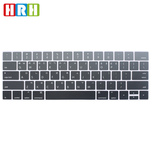 """Rainbow Korean Silicone US Keyboard Cover Skin Protector For Macbook Pro 13"""" A1706 A1989 and 15"""" A1707 A1990 with Touch Bar"""