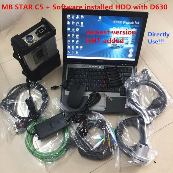 320g HDD 2019.12V ile Allready MB Yıldız C5 SD Bağlan C5 araba tanı tarayıcı mb yıldızı C5 D630 Laptop yumuşak eşya vediamo / X / D / HHT