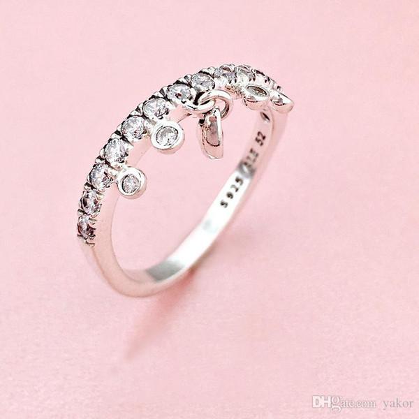 NUOVO cuore di moda ciondolo con diamanti a forma di ciondolo con set di anelli con logo scatola originale per anelli di gioielli da donna in argento sterling Pandora 925