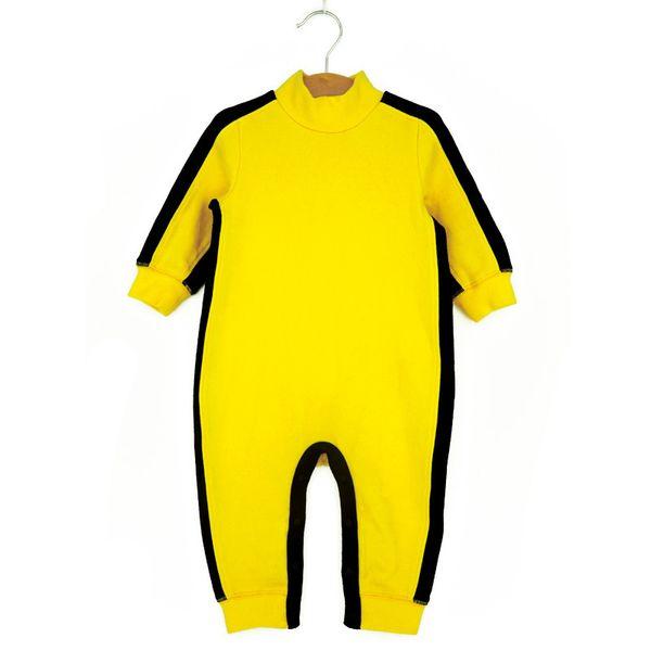 Kongfu Style Baby Boy Rompers 2019 Baby Bruce Lee Costumes Newborn Long Sleeve Boy Jumpsuit Toddler Baby Clothing Boys Wear Cute J190526
