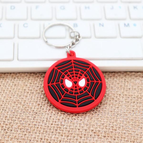 Pvc Doux En Caoutchouc Poupée Porte-clés Avengers Capitaine Amérique Bouclier Double Face Spider Man Iron Man Superman Voiture Porte-clés