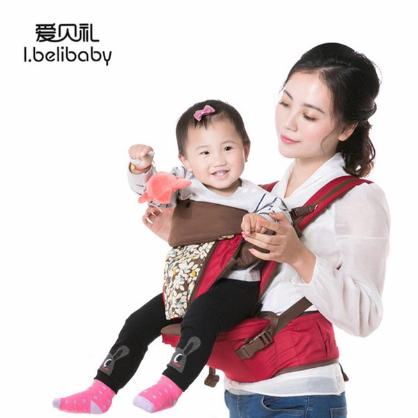 Ibelibaby Baby Carriers Thickening Shoulders 360 Ergonomic Hoodie Kangaroo Baby Carrier Comfortable Carrier Wrap Stool