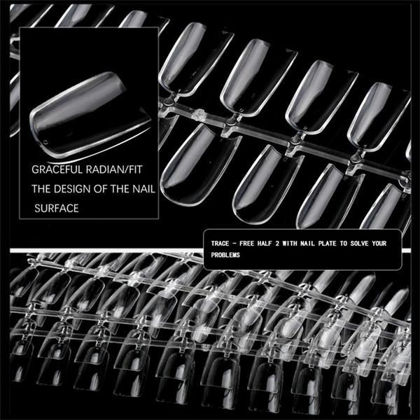 Versione corta Nail Pieghe non traccia di punta del chiodo completa Bastone Di estensione Droplet Tip Falso Pezzo di sicurezza che non lascia segni di bellezza