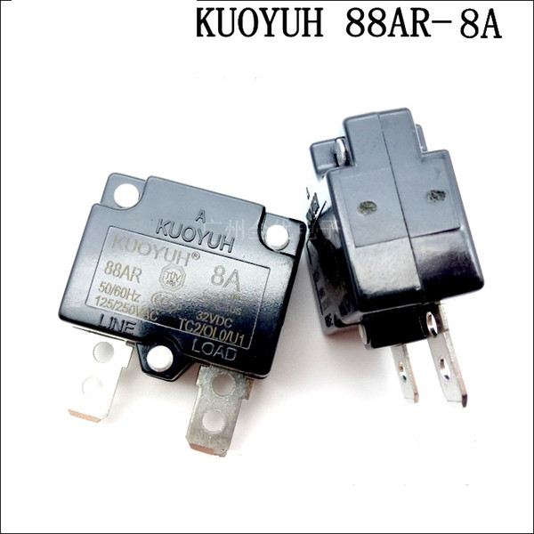 best selling Taiwan KUOYUH 88AR-8A Overcurrent Protector Overload Switch Automatic Reset