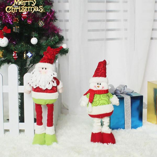 Noel Gerilebilir Noel Baba Kardan Adam Ren Geyiği Bebek Dekorasyonu Noel Ağacı Asılı Süsler Kolye 2018 Yeni