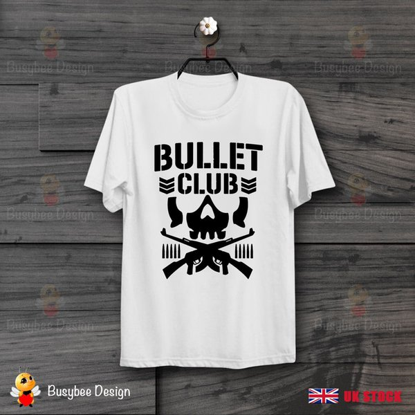 Bullet Club Pro Wrestling Logo Cool Ideal Gift UNISEX T Shirt Men Women Unisex Fashion tshirt Free Shipping Funny Cool Top Tee White