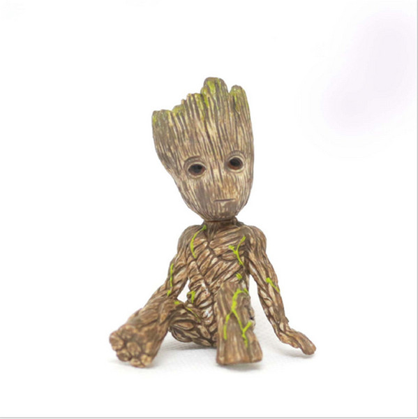 Guardians of the Galaxy 2 hand ornaments Gruitt sitting tree people baby hand office model box Groot