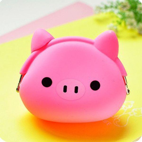 Cute mini Coin Purse Cartoon change wallet purse Owl/Duck/Pig/Cat etc Animals Pattern Girls Silicone small mini Coin Bag