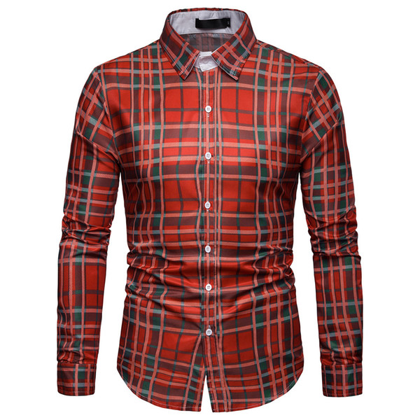New Men Gold letter Shirts Casual Mens Solid color Shirt Short Sleeve Casual Slim Fit Male Blouse Plaid Printing Loose Shirt