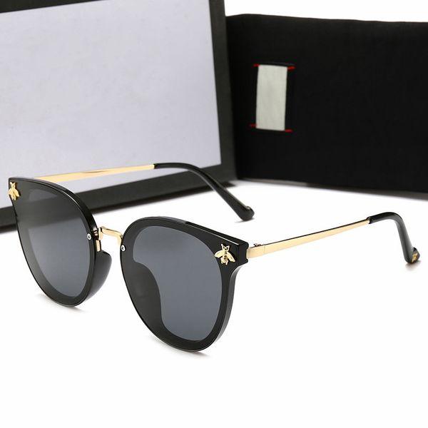 Moda Erkek Tasarımcı Polarize Güneş Gözlüğü Bayan Lüks Arı Güneş Gözlükleri UV400 Durumda ve Kutu Ile Güneş Gözlüğü