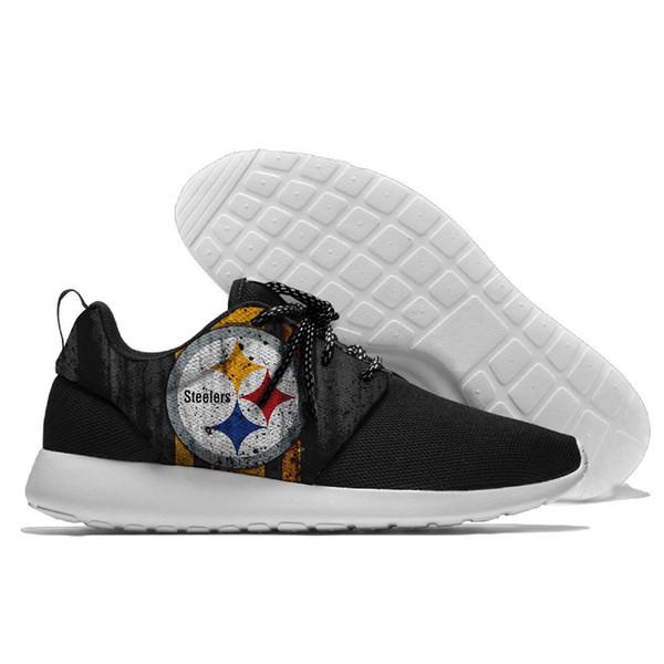 Venta caliente AFC Steelers logo Pittsburgh emblema lienzo zapatos cómodos
