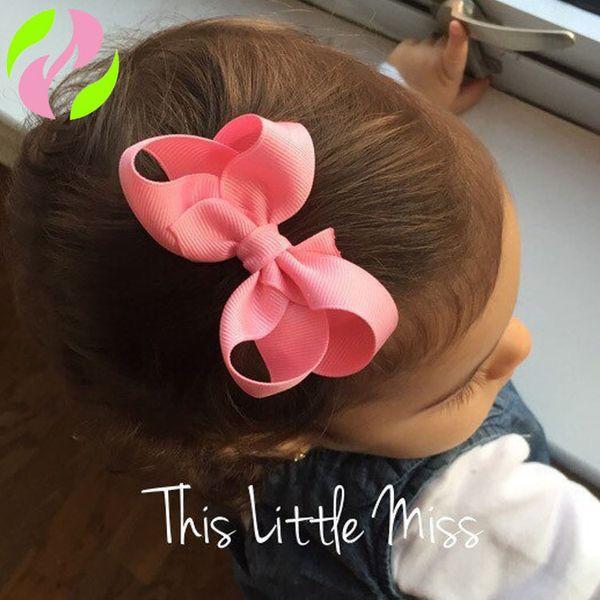 Versão coreana da fita INS Grampo de cabelo pequeno arco infantil Grampo para bebê 8CM Liu Hai clipe Fino headwear