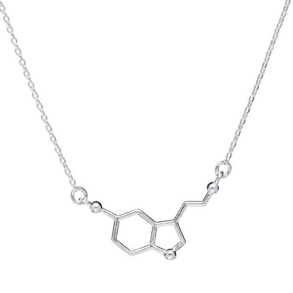 Compre 1 Collar Químico Molecular Estructura Molecular Collar Fórmula Química 5 Ht Joyería Geométrica Joyería Exquisita Joyería Simple A 2 52 Del