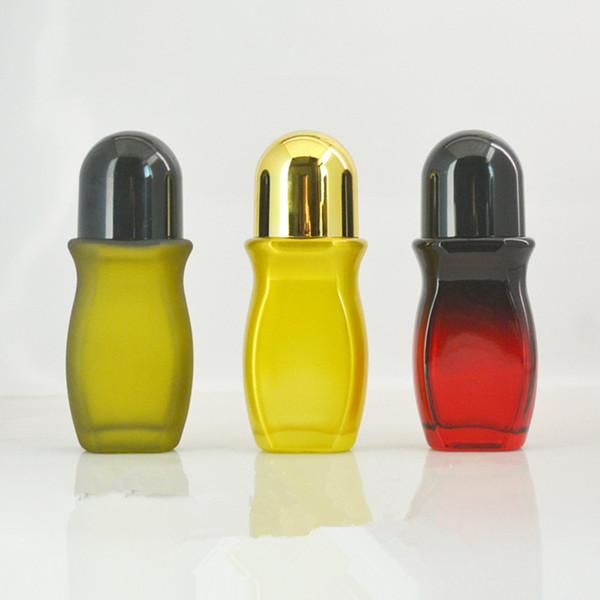 Einfache leere Glasrolle 30ml 50ml auf Flaschen-Plastikrollerball-tragbarer Reise-desodorierender Rolle auf Behälter F2882