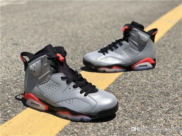 2019 Best Authentic 6 JSP 3M Reflective Infrared Reflective Silver Black 6S Men Basketball Shoes Sport Sneakers CI4072-001 With Original Box