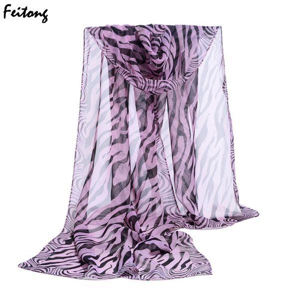 2018 New Arrival Soft New Fashion Shawl Zebra Stripe Prints Muffler Chiffon Women Scarf Free shipping Ladies Scarf