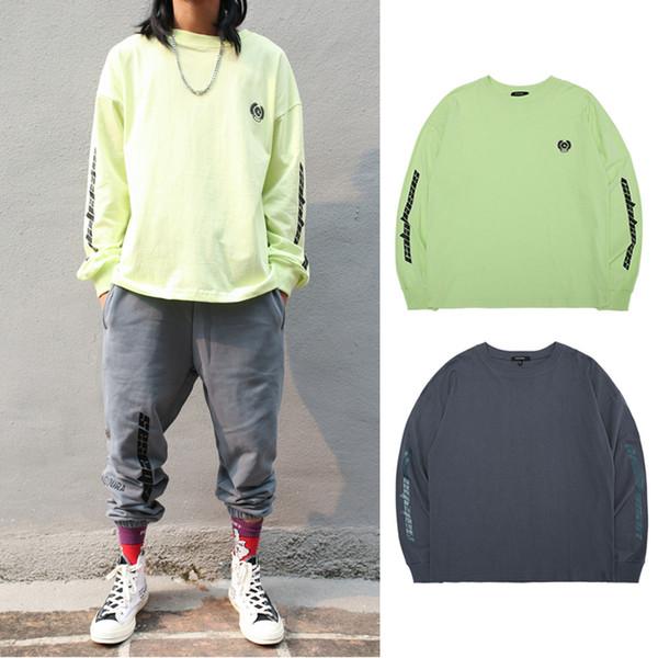 Kanye West Calabasas Saison 6 T-shirt Pour Hommes Femmes Nouveau Hip Hop Streetwear Vert Noir À Manches Longues En Coton Tee Shirts TXH1105