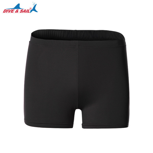 DIVE&SAIL Swim Trunks Swimsuit Unisex Men Women Breathable Lycra Swimming Short Boxer Board Shorts Swimwear Watersports Clothing