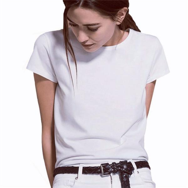Free Shipping Women shirt O neck Short sleeve T-shirt New Woman Slim Fit t shirt tee Summer Tops 7 colors YKD3