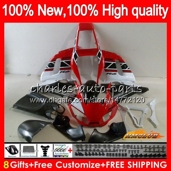 Body For YAMAHA YZF600 YZF R 6 R6 1998 1999 2000 2001 2002 58NO.91 red white hot YZF-600 600CC YZF-R6 YZF 600 YZFR6 98 99 00 01 02 Fairings