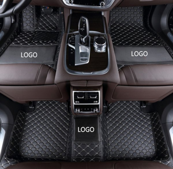 BMW M3 sedan 2009-2013 car floor mat luxury surrounded by waterproof leather wear-resistant thickening car mat with logo