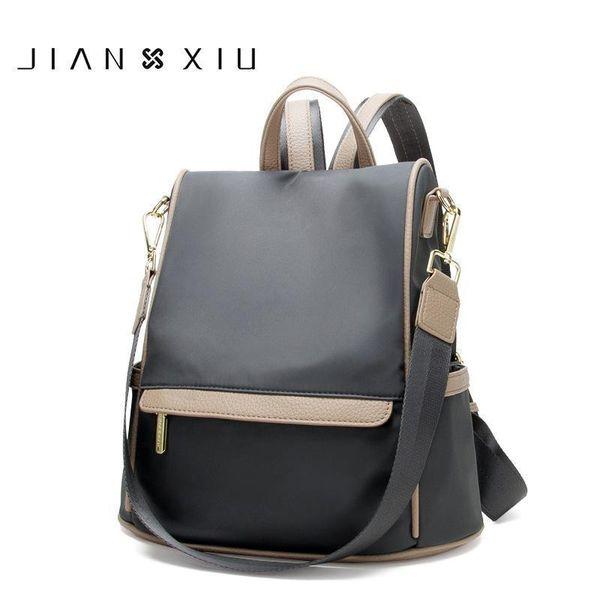 Jianxiu Oxford Multifunctional Backpack School Bags Women Bag Travel Bagpack High Capacity Length Strap Shoulder Bag Womens