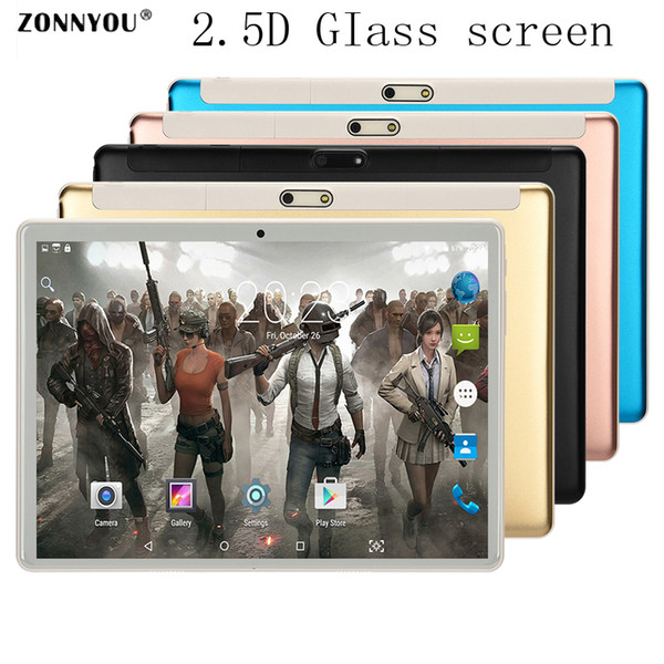 3G Phone Call Tablet PC 10.1 inch 4GB/32GB, Android 7 Octa Core 1.5GHz Dual SIM Support GPS OTG WiFi Bluetooth 2.5D Tablet 10.9