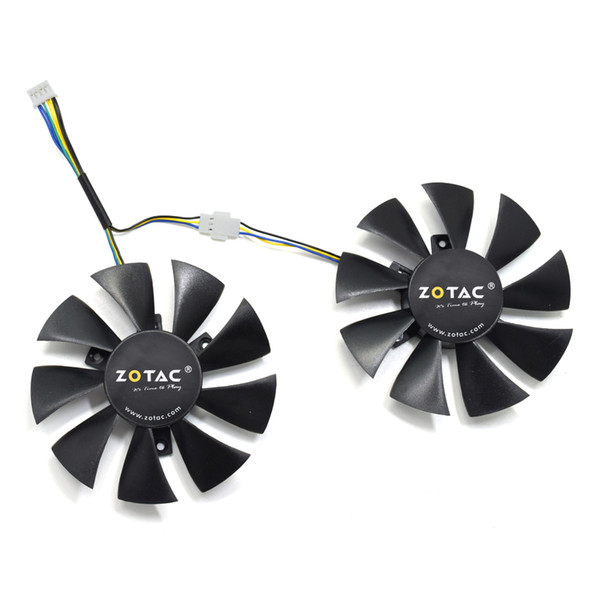 Electronics 2 Pcs/lot 95mm DC 12V 0.4A Video Card Dual Fan for MSI ...