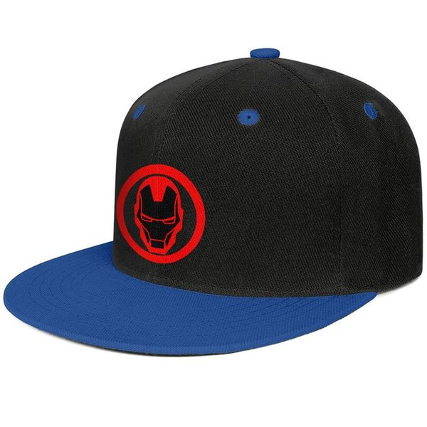 Invincible Iron Man Classic Round Sticker for men and women flat brim hats Blue snapback cool kids hats sports make your own fashion plain